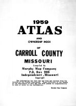 Title Page, Carroll County 1959