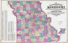 Missouri State Map, Franklin County 1878