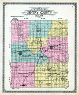 Outline County Map, Gentry County 1914