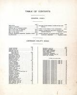 Table of contents, Harrison County 1917