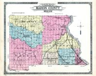 County Outline Map, Marion County 1913