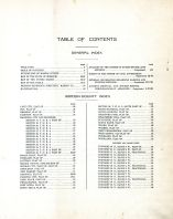 Table of Contents, Marion County 1913