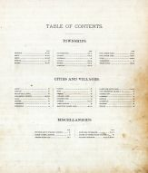 Table of Contents, Nodaway County 1893