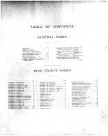 Table of Contents, Pike County 1899