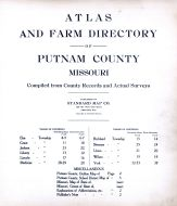 Title Page and Table of Contents, Putnam County 1916