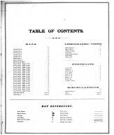 Table of Contents, Schuyler County 1878