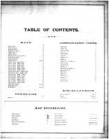 Table of Contents, Shelby County 1878