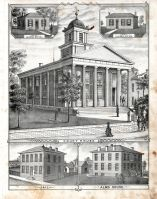 Court House, Jail, Alms House, County Clerks Office, Circuit Clerks Office, St. Charles County 1875