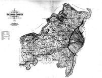 St. Louis County Outline Map, St. Louis County 1909