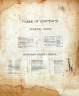 Table of Contents, Sullivan County 1897