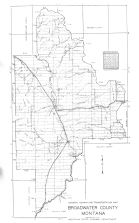 Broadwater County Map, Lewis and Clark - Jefferson - Meagher - Broadwater Counties 1953