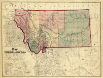 Montana Antique Maps And Historical Atlases Historic Map Works - Montana maps
