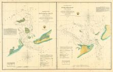 Hatteras and Ocracoke Inlet Chart 1857 North Carolina, Hatteras and Ocracoke Inlet Chart 1857
