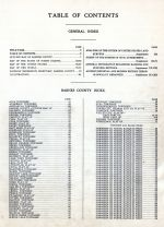Table of Contents, Barnes County 1928