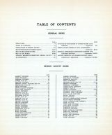 Table of Contents, Benson County 1929