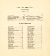 Table of Contents, Bottineau County 1929