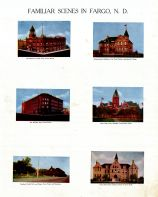 Northern Pacific Park, Jones Hall, Fargo College, Waldorf Hotel, High School, Masonic Temple, Agricultural College