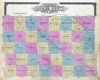 Cavalier County Outline Map, Cavalier County 1912