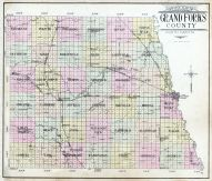 Grand Forks County Outline Map, Grand Forks County 1909