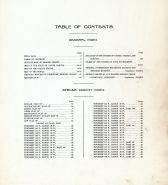 Table of Contents, Mercer County 1918