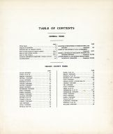Table of Contents, Nelson County 1928