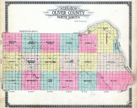 County Outline Map, Oliver County 1917