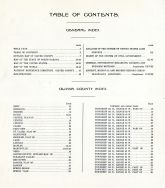 Table of Contents, Oliver County 1917