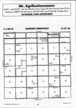 Sargent County Map Image 019, Ransom and Sargent Counties 1992