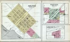 Milnor, Havana, Gwinner, Storm Lake, Sargent County 1909