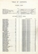 Table of Contents, Stutsman County 1911