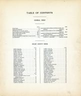 Table of Contents, Walsh County 1928