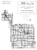 County Highway Map, Ward County 1959