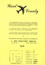 Title Page - Legend, Ward County 1959
