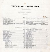 Table of Contents, Buffalo County 1907