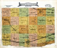 Topographical Map, Buffalo County 1919