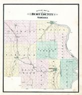 County Outline Map, Burt County 1884