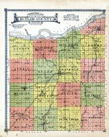 Topographical Map - Butler County, Butler and Polk County 1918