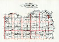 Cass County Outline Map, Cass County 1905