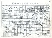 County Outline Map, Cherry County 1938