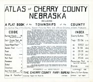 Title Page, Index, Code, Cherry County 1938