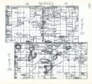 Townships 28 and 29, Ranges 35 and 36, Round Lake, Fish Lake, Mud Lake, Hole Lake, Duck Lake, Cherry County 1938