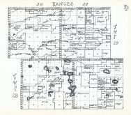 Townships 28 and 29, Ranges 37and 38, Cottonwood Lake, Stevenson Lake, Piester Lake, Green Lake, Cherry County 1938