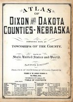 Title Page, Table of Contents, Dixon and Dakota Counties 1925