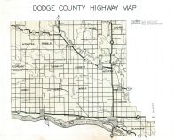 Dodge County Highway Map Dodge County 1952