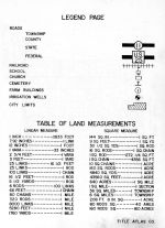 Legend and Table of Land Measurements, Dodge County 1962