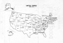 United States Map, Dodge County 1962