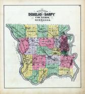 Douglas & Sarpy Counties Outline Map
