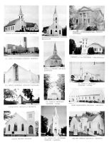 Christ Lutheran Church, Pilgrim Congregational Church, St. James Catholic Church, Adams Baptist Church, Gage County 1962