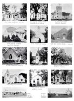 Hopewell Methodist Church, Odell Christian Church, Lewiston Methodist Church, Trinity United Luther Church, Gage County 1962