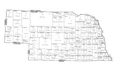 State Map, Gage County 1962